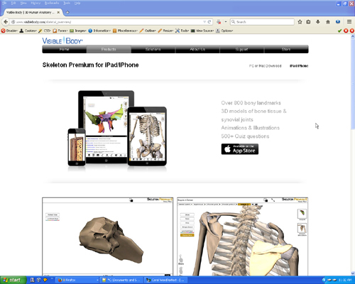 3D Anatomy Apps and Web Sites