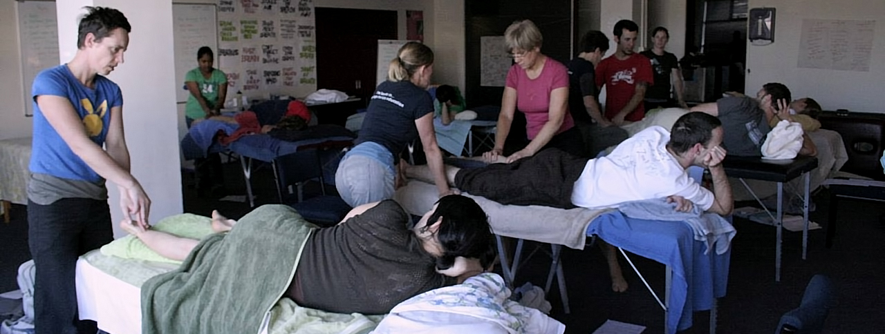 Massage School Hands-On Class